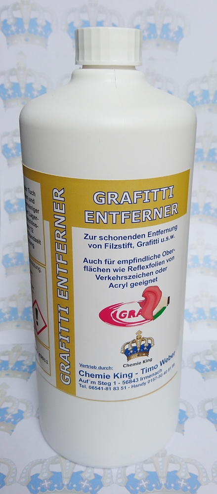 Grafitti-Entferner in der Pumpflasche - Chemie King